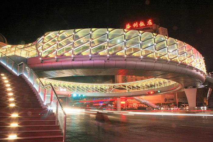 钢结构设计加工—荆河路交叉口人行天桥钢结构设计