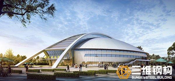 滕州全民游泳馆钢结构工程设计