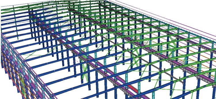 济宁福林汽车钢结构厂房设计工程
